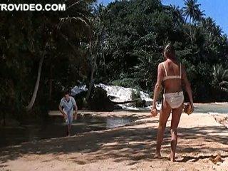 Mesmerizing Bond Girl Ursula Andress Wearing a Bonerific White Bikini
