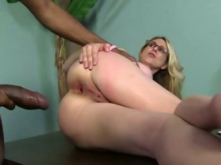 Wild cougar Angela Attison gets her tight ass hammered