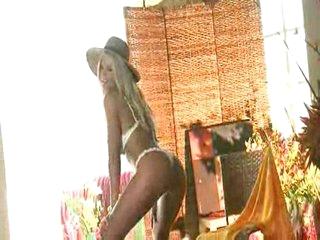 Sexy blond stripper