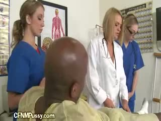 Nurse Checks Dick With Assistant
