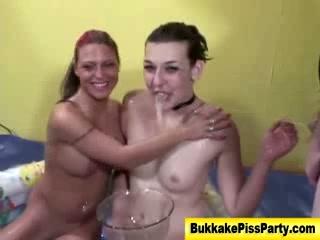 Bukkake watersports piss shower