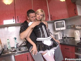 Sexy maid Donna Bell getting backdoor banged hard
