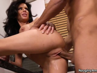 Horny MILF Veronica Avluv gets down and dirty in the kitchen