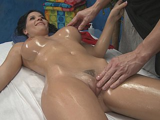 Amazing oiled body, with big beautiful tits