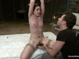 Sarah Shevon gets her mouth stuffed with cock