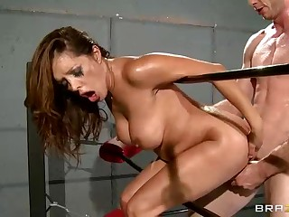 Rough sex in the ring with busty Francesca Le