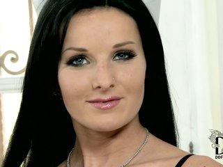 European babe Vanessa Jordin with blac