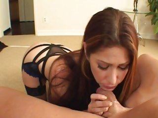 Tiffany Mynx gets her throat stuffed with hard cock