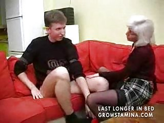 Granny with saggy tits gets fucked part1