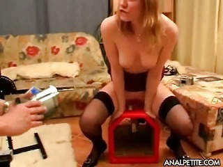 Girl with fucking machines