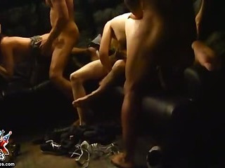 Group sex with naked young students