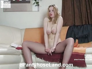 Natalie pantyhose tease video