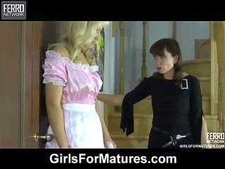 Gloria&Flossie mature lesbian video