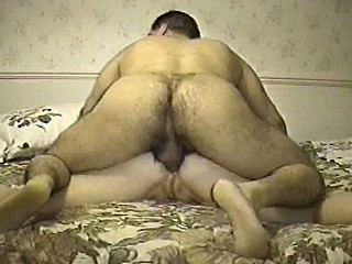 Whore's straitened anal gets reamed by strong man's flesh. It's quite painful, because she lets out loud moans.