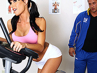 Gia Dimarco has been training her butt off. That Babe's going to attempt to run a marathon, and this babe knows that this babe has to be in top shape. Luckily for her Danny Mountain is one motivated trainer. This Guy'll do soever it takes to get her ready, and if that means having to eat her wazoo, than so be it.