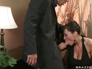 Lisa Ann, is the sexiest and the most busty milf you could dreamed of! And when  this super hot lady gets horny she does not care about the place or people. In a fancy party this busty housewife got a nice bone to dry off her wet pussy and cool her busty big boobs. So she treated the big dick with variety of blowjob and fed..