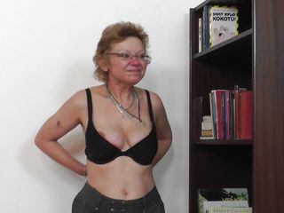Don't be fooled by that saggy belly and boobs. She may have a wrinkle or two but this mature is still in a good shape and can suck cock just like she used to in her youth. The fucking whore proves her years of experience and shows us that all the cocks she sucked made her a pro at giving blowjob.