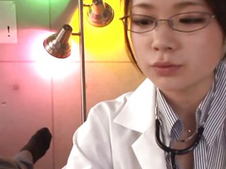 Kana is a 20 years old Japanese babe and here she is a doctor who is being naughty with her patient. She starts with talking and after some time she just starts licking his chest. Next she is helps him to put off his pants so that she can give mild handjob to that hard dick right there.