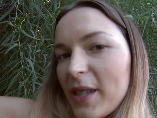 Sexy Ivana Fuckalot shows her butt in those small sexy panties and moves likes she wants to get fucked. This cute milf with long brown hair and small tits loves nature and she performs this show outdoors, bending and flexing her skinny body for our pleasure under the shade of a big tree.