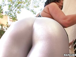 A brunette milf has her huge ass oiled, then shoves a guy's face in it. He lays down, and she sits on his face. Then she gets on her knees and begins to suck his big hard cock. She knows how to deepthroat.