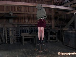 Life at country side can be simple but hard, just like this whore's punishment. After a short walk outdoors she's brought in the barn where the executor hangs her and then begins undressing the bitch. What simple and rudimentary tools will the old executor use on her body. In the end, simple is better.