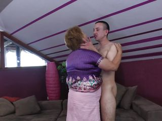 Elisia is a chubby mature whore that needs some love from her boy. She approach him and the begin to kiss passionately and get naked. soon Elisia finds herself under her guy and he squeezes her big soft boobs while kissing them. Will Elisia receive a few loads of jizz in her pussy or on her boobs?
