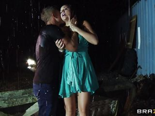 Going outside on the streets in the middle of the night is very dangerous for women, most especially if she is a very hot milf like Chanel. Those big breasts, juicy lips and long sexy legs are asking for loads of cum and when it starts raining she gets undressed by this guy right there in the rain, will she end up fucked hard..