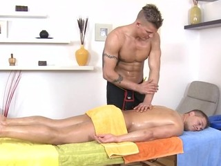 Metrosexual stud gets his except for sucked by gay masseur