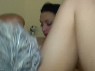 Wicked horny Granny and her girlfriend playing with a Toy
