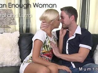 Busty blonde Milf fucked on sofa