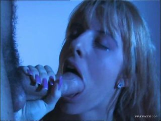 Smoking Blonde Gets A Midnight Hardcore With A Big Cock