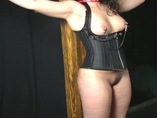 Chubby latina beauty in a bondage audition