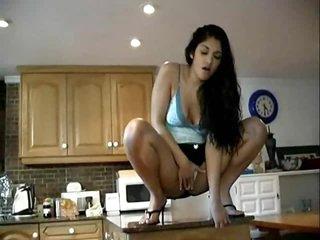 Squirting Latina lesbians make a hot mess