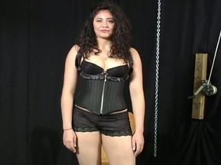 Bondage audition for plumper latina chick