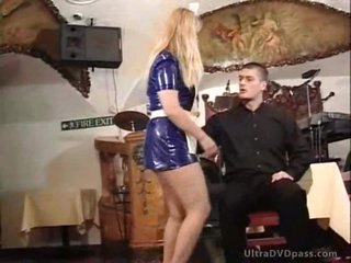 Blonde Cougars Get Their Asses Spanked By Young Stud With a BDSM Paddle