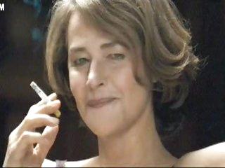 Hot MILF Smoking in her Lingerie