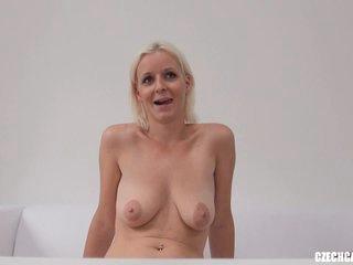 Czech Casting Katerina strips naked on cam