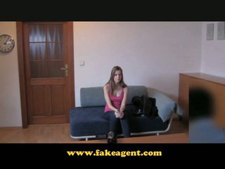 FakeAgent First time strip and bold pussy