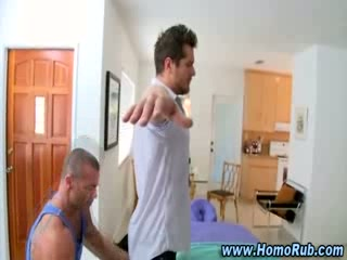 Gay straight oil massage