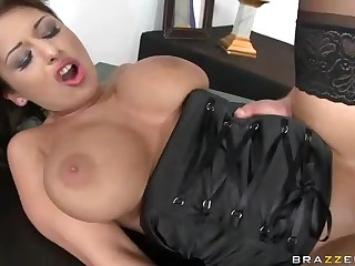 The most amazing talent of busty Allison Star is fucking. Her fucking skills are really outstanding. Watch delicious big racked Allison Star give head and get banged in front of other contestants.