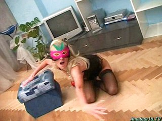 Flexible amateur teen babe rammed hard