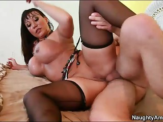 Big jugged milf Ava Devine loves butt fucking