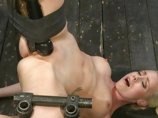 Lorelei Lee gets a huge dildo rammed in her moist slot