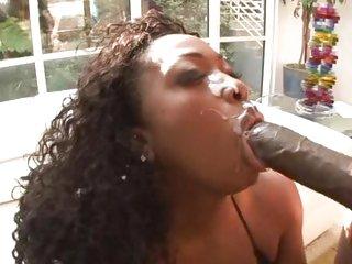 Ebony babe Aryana Starr is poled by Lex Steele