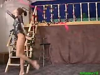 Flexible gymnast gets hard fucked sex and oral job