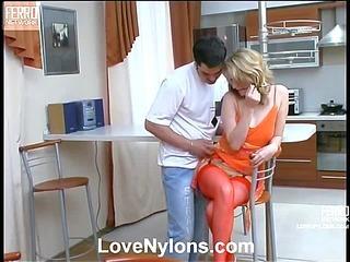 Irene&Adam nylon fucking action