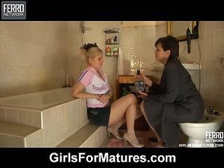 Elsa&Rebecca mature lesbian movie