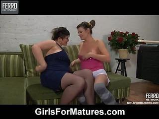 Stephanie&Gloria vivid lesbian mature action