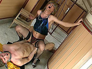 Sex-addicted sissy guy getting his desirous fuckhole filled with beefy meat