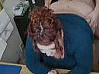 Fat redhead slut gets slammed on a chair in the office. She doesn't suspects that she is being filmed and that thought doesn't even cross her mind while he is fucking her.